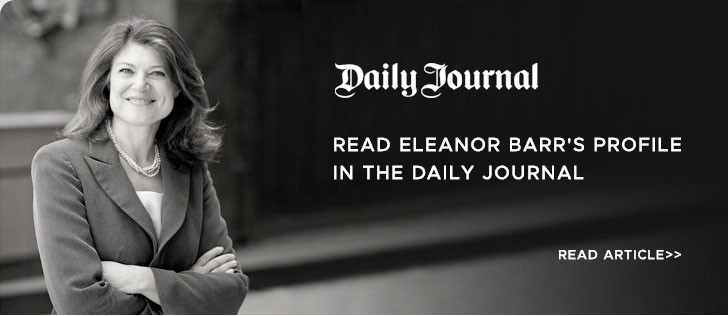 Read Eleanor's Barr profile in The Daily Journal